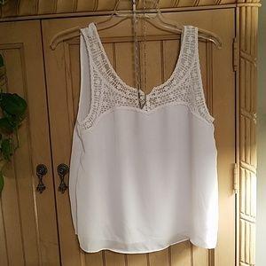 LC Lauren Conrad white lace cami